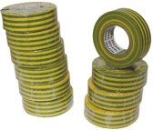 Nitto Isolatietape Groen/Geel 19Mm X 10M