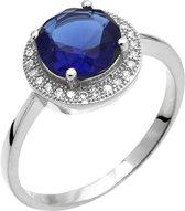 Montebello Ring Palaua  - Dames - Zilver Gehrodineerd - Zirkonia - ∅11 mm - maat 60 - 19