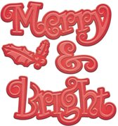 Spellbinders Shapeabilities Die D-Lites Merry and Bright S2-184