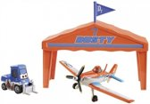 Disney Planes - Dusty Crophopper racer speelset pit row
