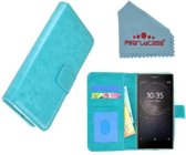 Pearlycase® Turquoise Fashion Wallet Bookcase Hoesje voor Sony Xperia L2