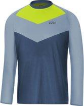 GORE WEAR C5 Trail Fietsshirt lange mouwen Heren, deep water blue/cloudy blue Maat M