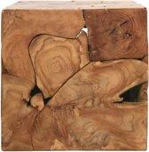 HSM Collection Kubus bijzettafel - 40x40 cm - teak - natural wax