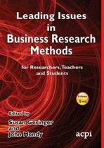 Leading Issues in Business Research Methods Volume 2