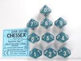 Chessex dobbelstenen set, 10 10-zijdig, Speckled Sea