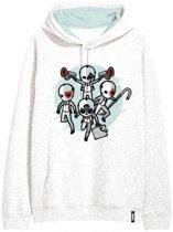 Fortnite sweater - hoodie - wit - maat 176 cm / 16 jaar
