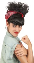 """""""Retro pruik met haarband voor vrouwen - Verkleedpruik - One size"""""""