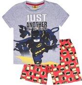 LEGO-Batman-Pyjama-met-korte-mouw-grijs-maat-104
