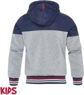 Ajax jack kinderen - navy/grijs - maat 164