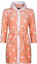 Kinderbadjas - sterren motief - capuchon badjas - 100% fleece - maat S (5-6 jaar)