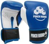 Punch Round™ ELITE PRO Bokshandschoenen Blauw Wit 8 OZ Punch Round Bokshandschoenen