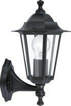 EGLO Laterna 4 - Buitenverlichting - Wandlamp - 1 Lichts - Zwart - Helder