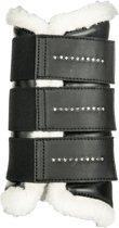 Beenbeschermers -Comfort Crystal- zwart L