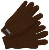 Thinsulate Handschoenen Gebreid Dames Bruin Maat 9