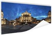 Panorama Gendarmenmarkt in Berlijn Poster 180x120 cm - Foto print op Poster (wanddecoratie woonkamer / slaapkamer) / Steden Poster XXL / Groot formaat!