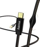 Hama Jeans Micro-USB naar USB Kabel - 1,5 Meter - Zwart