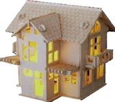 Bouwpakket Villa Huis Huisje C- hout