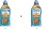 Zwembad reiniging kit: Poolborder cleaner 1L + Cristal clear 1L