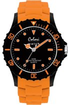 Colori Super Sports 5 COL097 Horloge - Siliconen Band - Ø 40 mm - Oranje