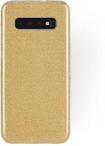 Samsung Galaxy S10 Plus Hoesje - Glitter Backcover - Goud