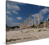 De pilaren in het Israëlische Beit She'an Canvas 60x40 cm - Foto print op Canvas schilderij (Wanddecoratie woonkamer / slaapkamer)