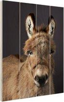 Portret ezel Hout 80x120 cm - Foto print op Hout (Wanddecoratie)