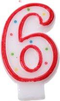 Amscan Verjaardagskaars Nummer 6 Rood