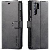 Huawei P30 Pro Hoesje - Luxe Book Case - Zwart