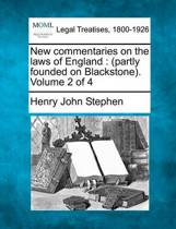 New Commentaries on the Laws of England