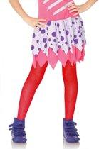 Rode netstof legging voor kinderen - Verkleedattribuut