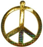 Goud peace teken 52 cm