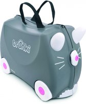 Trunki Ride-On Kat Benny Kinderkoffer - 46 cm - Grijs