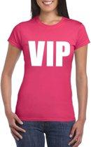 VIP tekst t-shirt roze dames S