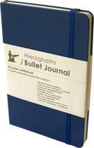 Hieroglyphs Bullet Journal - 100 grams papier - harde kaft - met Handleiding en Inspiratie – Nederlands - blauw - donkerblauw