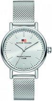 River Woods RW340020 Oswego horloge Vrouwen - Zilverkleurig - RVS 34 mm