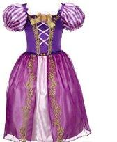 Prinsessen verkleedjurk paars maat 128/134 (labelmaat 140)