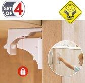 Magneetslot Set 4 Stuks - Baby/Kinder Magneetsloten - Kast Kinderbeveiliging Voor Kasten & Deurtjes - Kastbeveiliging Met Magnetische Sleutels - Startersset