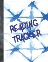 Reading Tracker: Navy Blue Abstract Keep Track of All the Books You Read Journal - Reading Review on Each Page Logbook For Boys & Girls