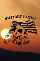 Military Family: Army Military journal / notebook for military family, proud army mom, proud army dad, proud army husband.