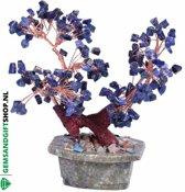 Sodaliet Edelsteen Bonsai boom - Gems and Giftshop