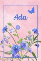 Ada: Personalized Journal with Her German Name (Mein Tagebuch)