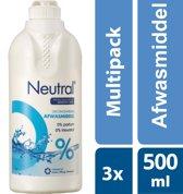 Neutral Afwasmiddel Parfumvrij Voordeelverpakking