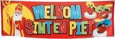 Sinterklaas Banner Welkom Sint en Piet (74 x 220 cm)