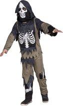4 stuks: Zombie skelet Tienerkostuum - 10-12 jaar