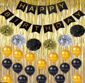 Verjaardag Versiering Set - Happy Birthday Set - Slinger Ballonnen Pompom