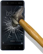 Pearlycase® Tempered glass / Beschermglas / Glazen screenprotector 2.5D 9H voor Nokia 5