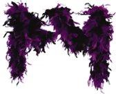 Boa gemeleerd zwart/ paars 65gr 180cm