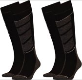 Head skisokken 2-pack V-shape kniehoogte - zwart-31-32