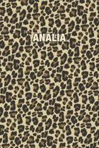 Analia: Personalized Notebook - Leopard Print (Animal Pattern). Blank College Ruled (Lined) Journal for Notes, Journaling, Dia