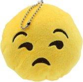 Emoji Pluche Sleutelhanger - Niet Geamuseerd (Not Amused) 10cm